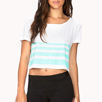 Striped Workout Crop Top
