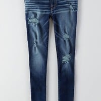 AEO Women's Jegging (Bright Indigo Destroyed)