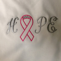 Hope Embroidered TShirt w/ a little Bling by CheeksLittleBoutique