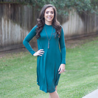 High Neck Everyday Dress | Light Green | Dress | Fall 816