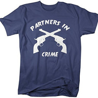 Shirts By Sarah Unisex Best Friend T-Shirt Partners In Crime Guns Shirts