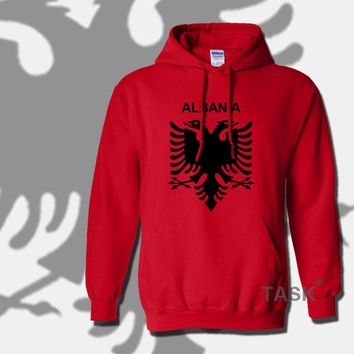 Albania hoodies 2017 men sweatshirt sweat new hip hop streetwear tracksuit nation footballer sporting country ALB Albanian