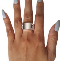 ID Chain Ring in Silver