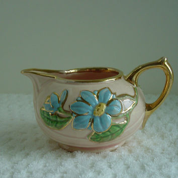 Antique Sugar and Creamer Set by USA Hull Art  Pottery