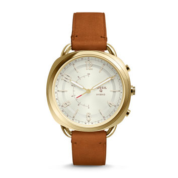 Hybrid Smartwatch - Q Accomplice Luggage Leather
