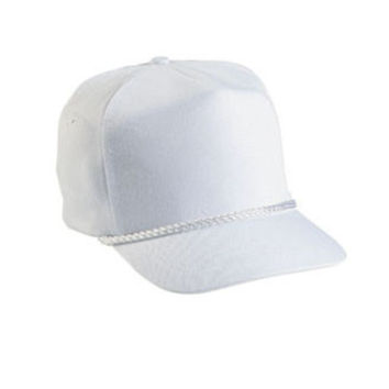 WHITE POLYESTER ROPE CAP