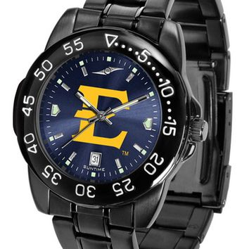 East Tennessee Buccaneers Mens Watch Fantom Gunmetal Finish Blue Dial