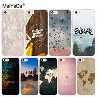 MaiYaCa World Map Travel Plans soft tpu phone case cover for Apple iPhone 8 7 6 6S Plus X 5 5S SE 5C 4 4S case Cover shell coque