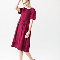 Islay Daydream Dress in Burgundy - JessaKae