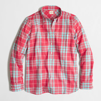 Factory plaid gauze popover