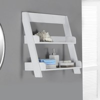 "White 24""H Wall Mount Shelf"