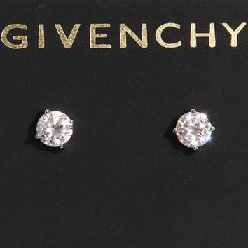 Givenchy Fashion White Crystal Zircon Stud Earrings