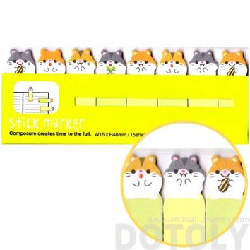 Guinea Pig Hamster Shaped Memo Post-it Bookmark Index Tabs | Animal Themed Stationery