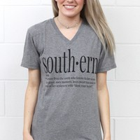 Southern Webster Definition Tee {Grey}