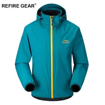 ReFire Gear Spring Autumn Thin Outdoor Windbreaker Jackets Male Hunting Climbing Hiking Camping Coat Clothes Waterproof Jackets