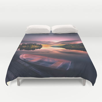 The old man and the sea Duvet Cover by HappyMelvin