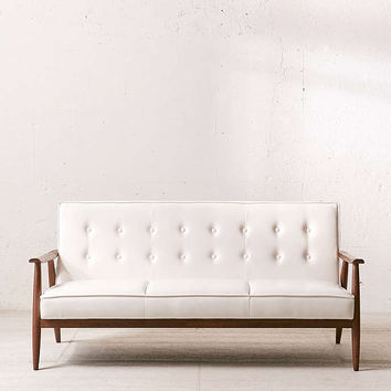 Wyatt Vegan Leather Sofa - Urban Outfitters