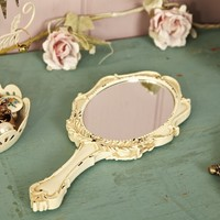 Large Cream Romantic Handheld Mirror | Photo Frames & Mirrors | Sass & Belle