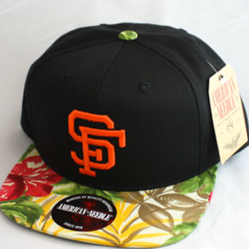 San Francisco Giants Strapback Hat (Black/Floral)