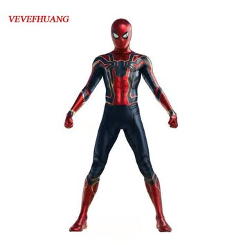 VEVEFHUANG Kids Children Spiderman Avengers Infinity War Cosplay Costume Zentai Iron Spider Man Superhero Bodysuit Jumpsuits