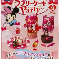 Minnie Mouse Re-Ment box Lovely Cake Party Set 3 sweets - Re-Ment Miniature