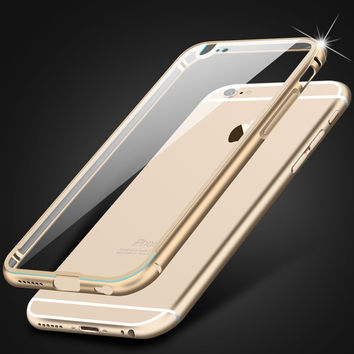 5 5S Luxury Clear Back Cover Bumper For Apple iphone 5 5S Metal Acrylic Aviation Frame Aluminum Coque Case For iphone5