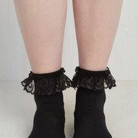 Just You and Eyelet Socks in Black Size OS by ModCloth