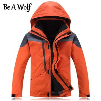 Be A Wolf Winter Hiking Jacket Women Men Outdoor Camping Skiing Hunting Clothes Fishing Heated Waterproof Windbreaker Jackets H4