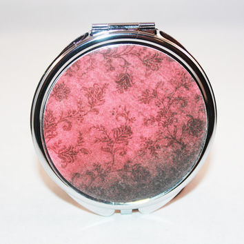 Deep Rose Compact Mirror