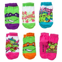 Teenage Mutant Ninja Turtles 6-pk. Low-Cut Socks - Toddler, Size: 3T-4T (Blue)