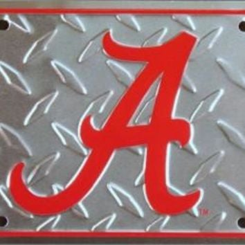 Alabama Crimson Tide Diamond Embossed License Plate