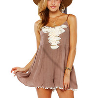 Papaya Clothing Online :: BRAIDED STRAP RUFFLE ROMPER
