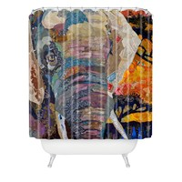 Elizabeth St Hilaire Nelson Elephant Shower Curtain