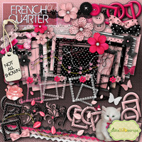 French Quarter Vol 2 - Digital Scrapbook Kit and  FREE QuickPage - French Paris Digital Printables