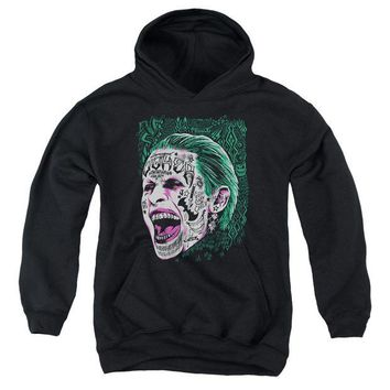 ac spbest Suicide Squad - Prince Portrait Youth Pull Over Hoodie