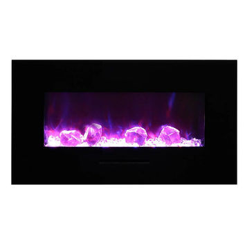 """Amantii 43"""" Built-in / Wall Mounted Electric Fireplace (WM-FM-34-4423-BG)"""