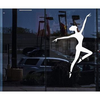 Window and Wall Sticker Decal Dance Dancing Ballet Dancing Ballerina for Bedroom Unique Gift z1352w