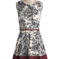 ModCloth Mid-length Sleeveless A-line Meadow Melodies Dress