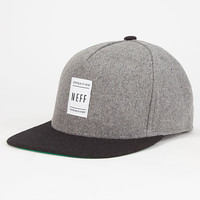 Neff Standard Mens Snapback Hat Grey One Size For Men 26808111501
