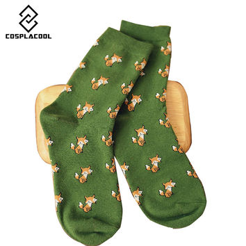 [COSPLACOOL]New cartoon creative novelty animal socks women cute harajuku female warm cotton sox 35-40 crew socks calcetines
