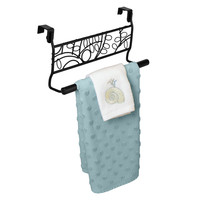 Evelots® Over the Cabinet Decorative Black Metal Twigs Towel Rack