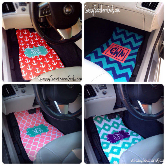 Monogrammed Car Mats Personalized Car From Sassysoutherngals