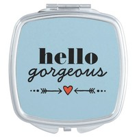 Hello Gorgeous - Blue Flattering to Every Face Mirror For Makeup