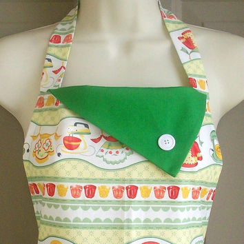 50s Retro Full Apron / Vintage Fifties Style Kitchen by Eclectasie