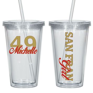 San Fran Acrylic Personalized Tumbler - Perfect Gift  - Free Shipping