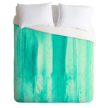 Madart Inc. Modern Dance Aqua Passion Duvet Cover