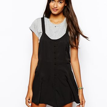 ASOS Button Through Beach Playsuit