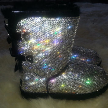 Custom Embellished Uggs With Swarovski Crystals