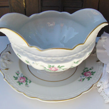 Vintage Gravy Bowl Princess China Sweet Briar by MyVintageAlcove