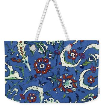 An Ottoman Iznik Style Floral Design Pottery Polychrome, By Adam Asar, No 15a - Weekender Tote Bag